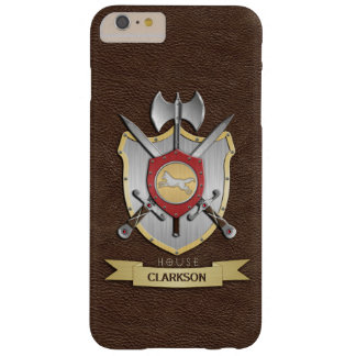 Wolf Battle Crest Sigil Brown Barely There iPhone 6 Plus Case