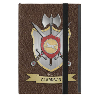 Wolf Battle Crest Sigil Brown Cover For iPad Mini