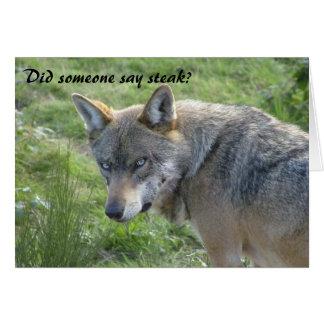 Wolf birthday card