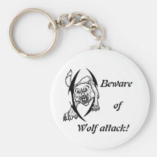 Wolf bites keychain