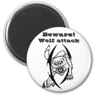 Wolf bites magnet