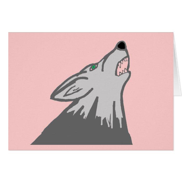 wolf blank card