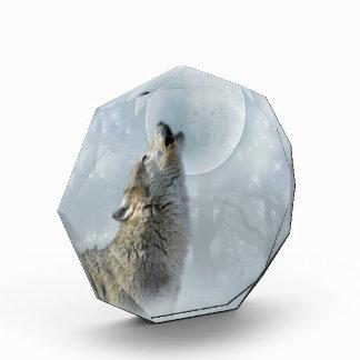 Wolf Blue Moon Acrylic Award