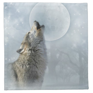 Wolf Blue Moon American MoJo Napkin