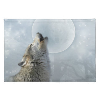 Wolf Blue Moon American MoJo Placemat