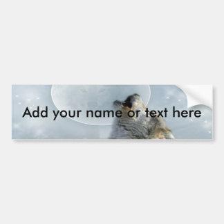 Wolf  Blue Moon Bumper Sticker