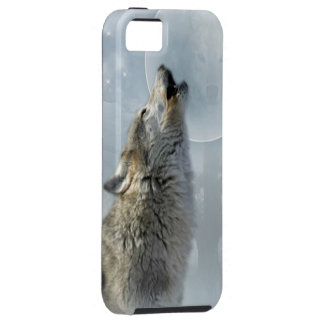 Wolf Blue Moon iPhone 5 Covers