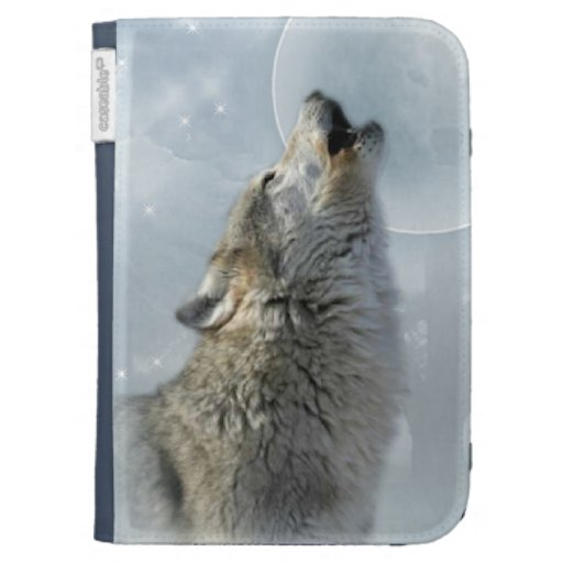 Wolf Blue Moon Caseable Case Kindle 3 Cover