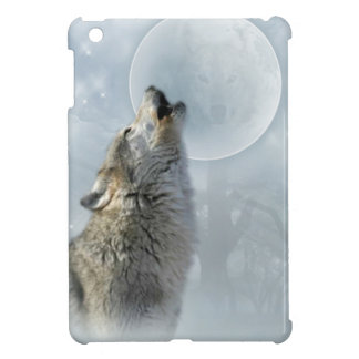 Wolf Blue Moon iPad Mini Cases