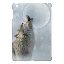 Wolf Blue Moon iPad Mini Cover