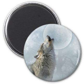 Wolf Blue Moon Magnet