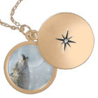 Wolf Blue Moon Necklace