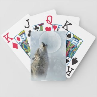Wolf Blue Moon Playing Cards