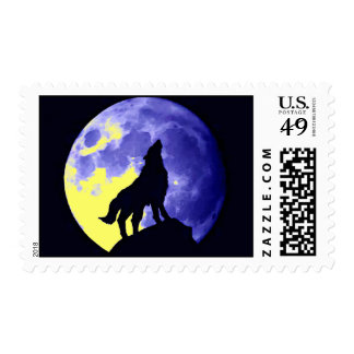 Wolf & Blue Moon Postage