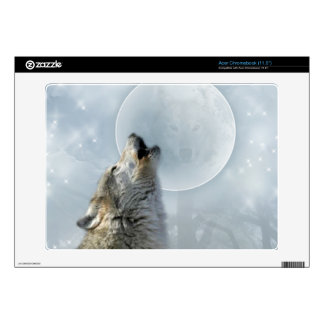 Wolf Blue Moon Zazzle Skin Decal For Acer Chromebook