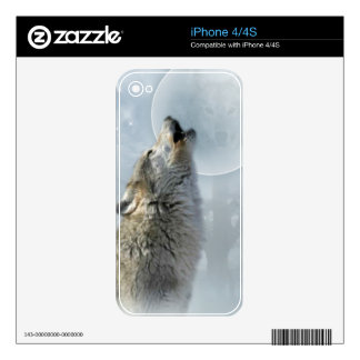 Wolf Blue Moon Zazzle Skin Decal For The iPhone 4
