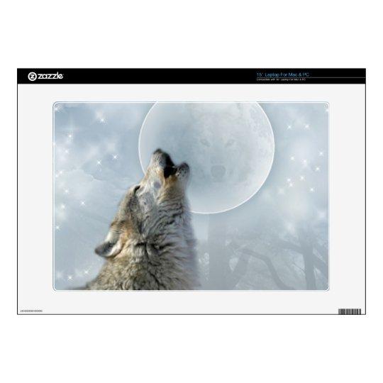 Wolf Blue Moon Zazzle Skin Skin For Laptop