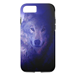 Wolf & Blue Night iPhone 7 Case