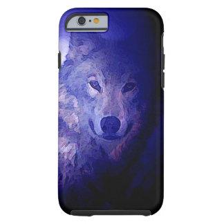 Wolf & Blue Night Tough iPhone 6 Case