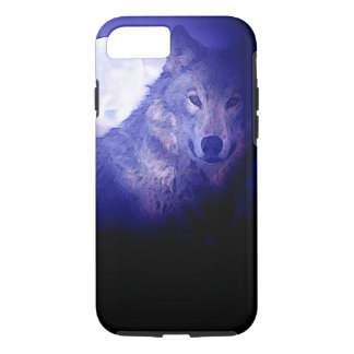 Wolf & Blue Night Tough iPhone 7 Case