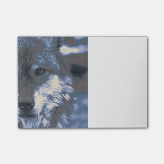 Wolf,blue Post-it Notes