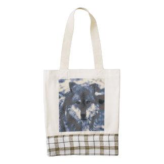 Wolf,blue Zazzle HEART Tote Bag