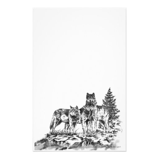 Wolf Brothers Customized Stationery