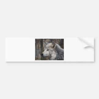 Wolf Car Bumper Sticker