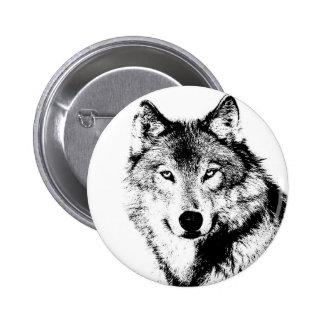 Wolf Pinback Button