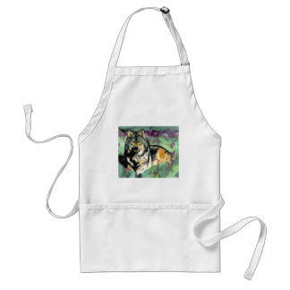 Wolf by Paula Atwell Adult Apron