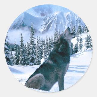 Wolf Call Classic Round Sticker