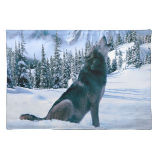 Wolf Call Cloth Placemat