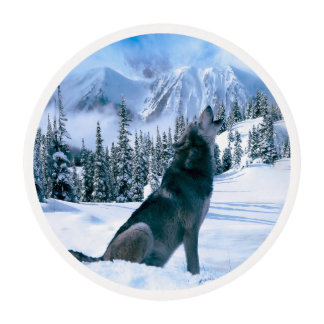 Wolf Call Edible Frosting Rounds
