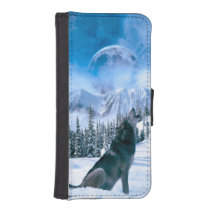 Wolf Call iPhone SE/5/5s Wallet Case
