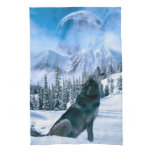 Wolf Call Kitchen Towel
