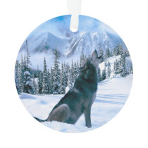 Wolf Call Ornament