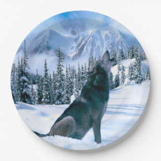 Wolf Call Paper Plate