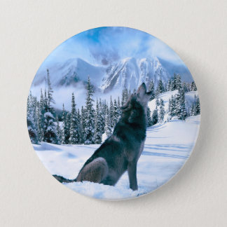 Wolf Call Pinback Button
