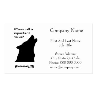 Wolf Call Silhouette Business Card