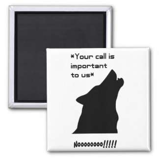 Wolf Call Silhouette Magnets