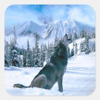 Wolf Call Square Sticker