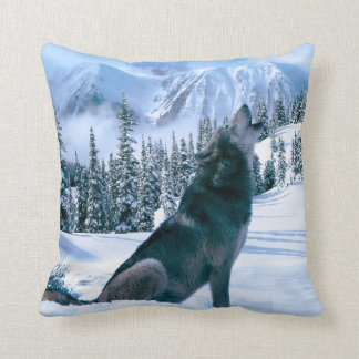 Wolf Call Throw Pillow