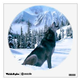 Wolf Call Wall Sticker