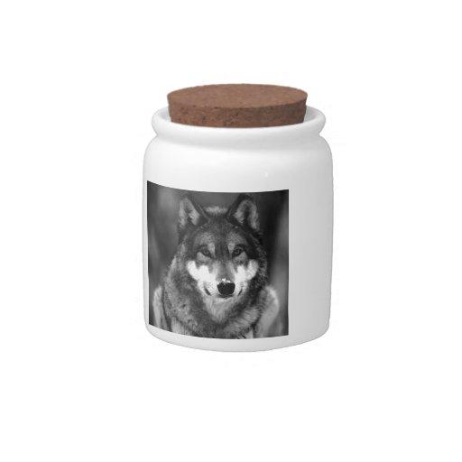 Wolf Candy Jar