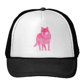 Wolf Canis wildly luggage herd howl moon spirit Hats