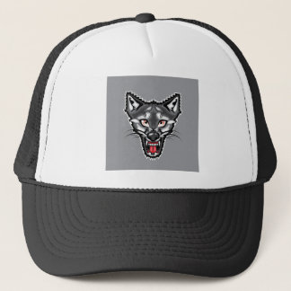 Wolf Cartoon Trucker Hat