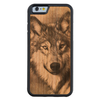 Wolf Carved Cherry iPhone 6 Bumper Case