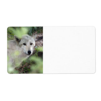 Wolf Charm Shipping Label