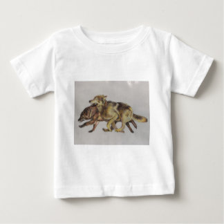 Wolf Chase Baby T-Shirt