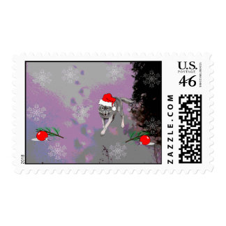 Wolf Christmas Stamp